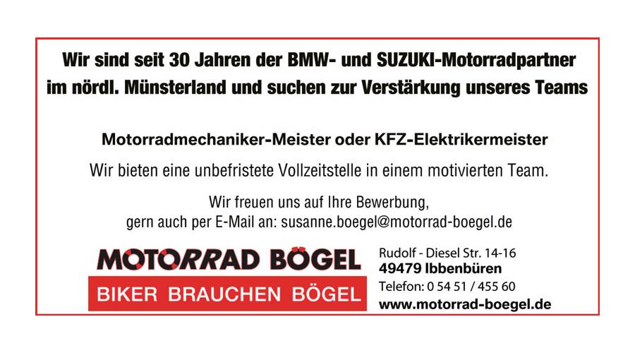 Motorradmechanikermeister oder KFZ-Elektrikermeister gesucht (Ibbenbüren, NRW)