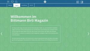 Die Startseite des Bitmann Birli Magazins.