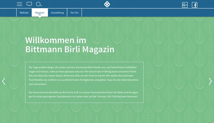 Pool und Sauna im Garten entdecken: im Bittmann Birli Magazin!