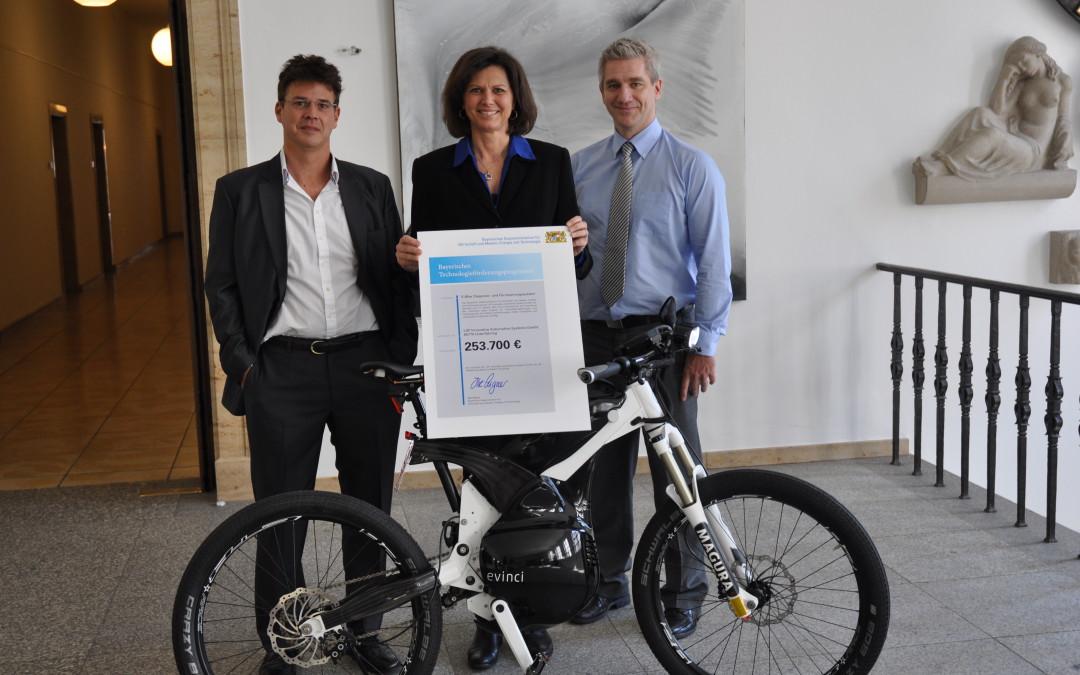 Evinci erhält Fördergelder für innovative E-Bike Software