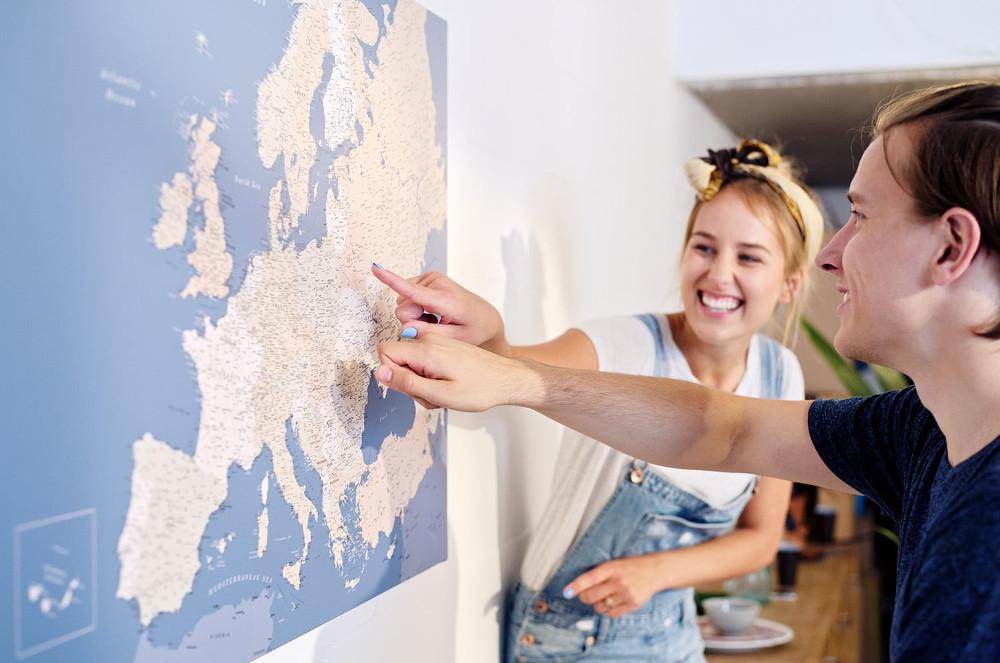 Europakarten-Pinnwände von tripmapworld.de